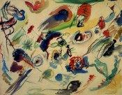 Wassily Kandinsky, senza titolo, 1910, acquerello, dim. cm. 50 x 65