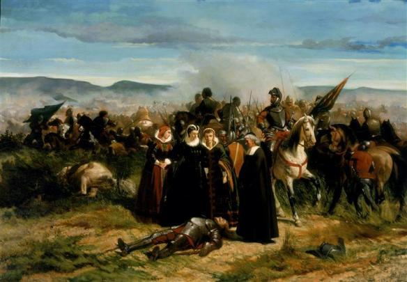 Giovanni Fattori, Maria Stuarda al campo di Crookstone, olio su tela, 1859-1861, dim. cm 76 x 108, Firenze, Galleria nazionale di Arte Moderna