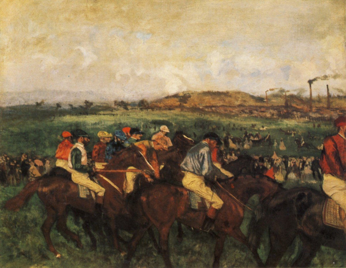 Edgar Degas, Gara di gentiluomini. prima della partenza, 1862,