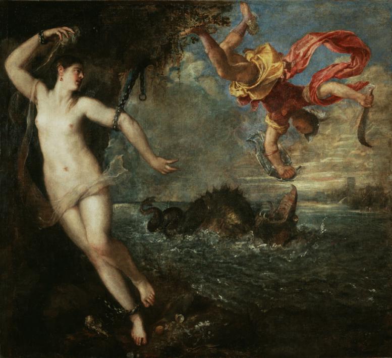 Perseus rescuing Andromeda by Tiziano Vecellio