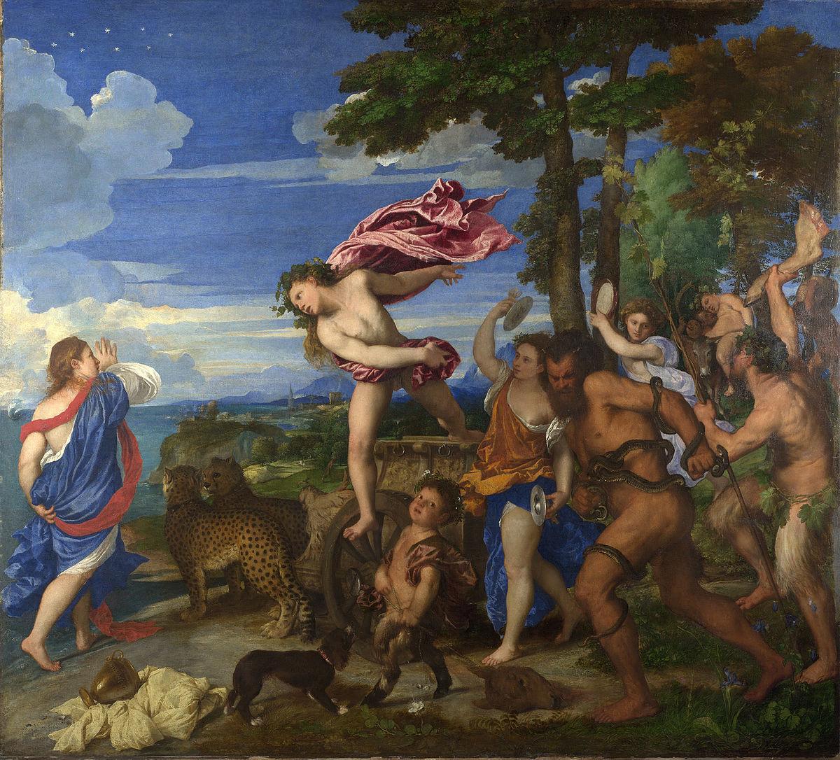 Tiziano, Bacco e Arianna tra il 1520 e il 1523