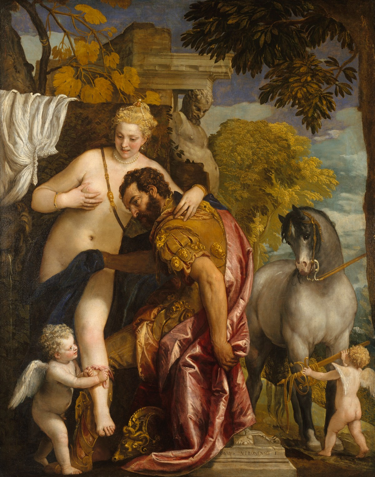 Veronese Paolo, Mars and Venus United by Love.mid-1570s