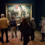Liberty by Delacroix picture taken in Musée du Louvre during the exibition (opening 29.03.2018)