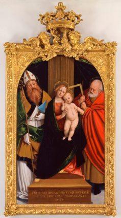 Madonna in trono con Bambino San Giulio d'Orta e San Giuseppe di Gerolamo Giovenone