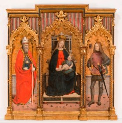 Madonna in trona con i santi Ubaldo e Sebastiano, G. M. Spanzotti. post 1480, Musei Reali Torino