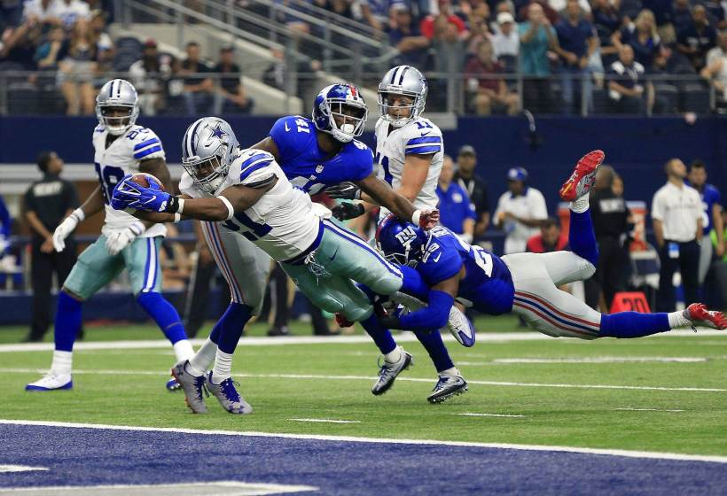 Ezekiel Elliott, Giants, Touchdown