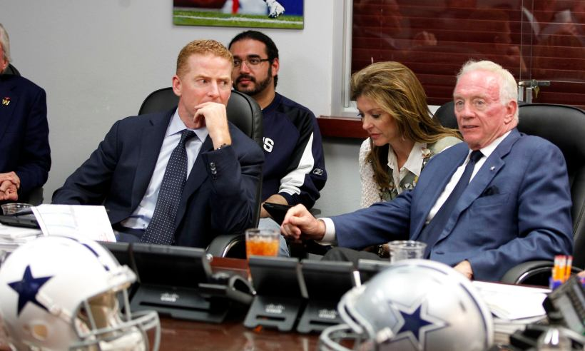 Jerry Jones and Jason Garrett