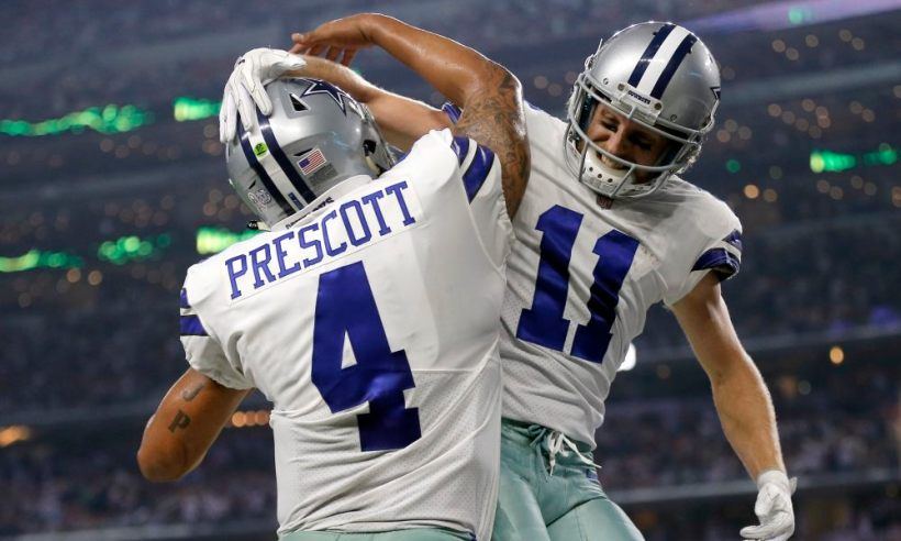 WR Cole Beasley and QB Dak Prescott