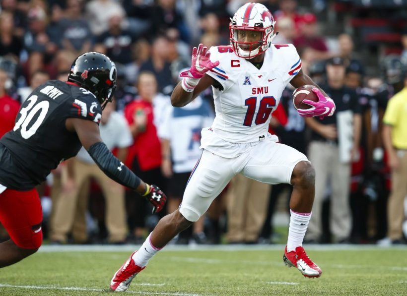 Dallas Cowboys HC Jason Garrett Attends Courtland Sutton's SMU Pro Day