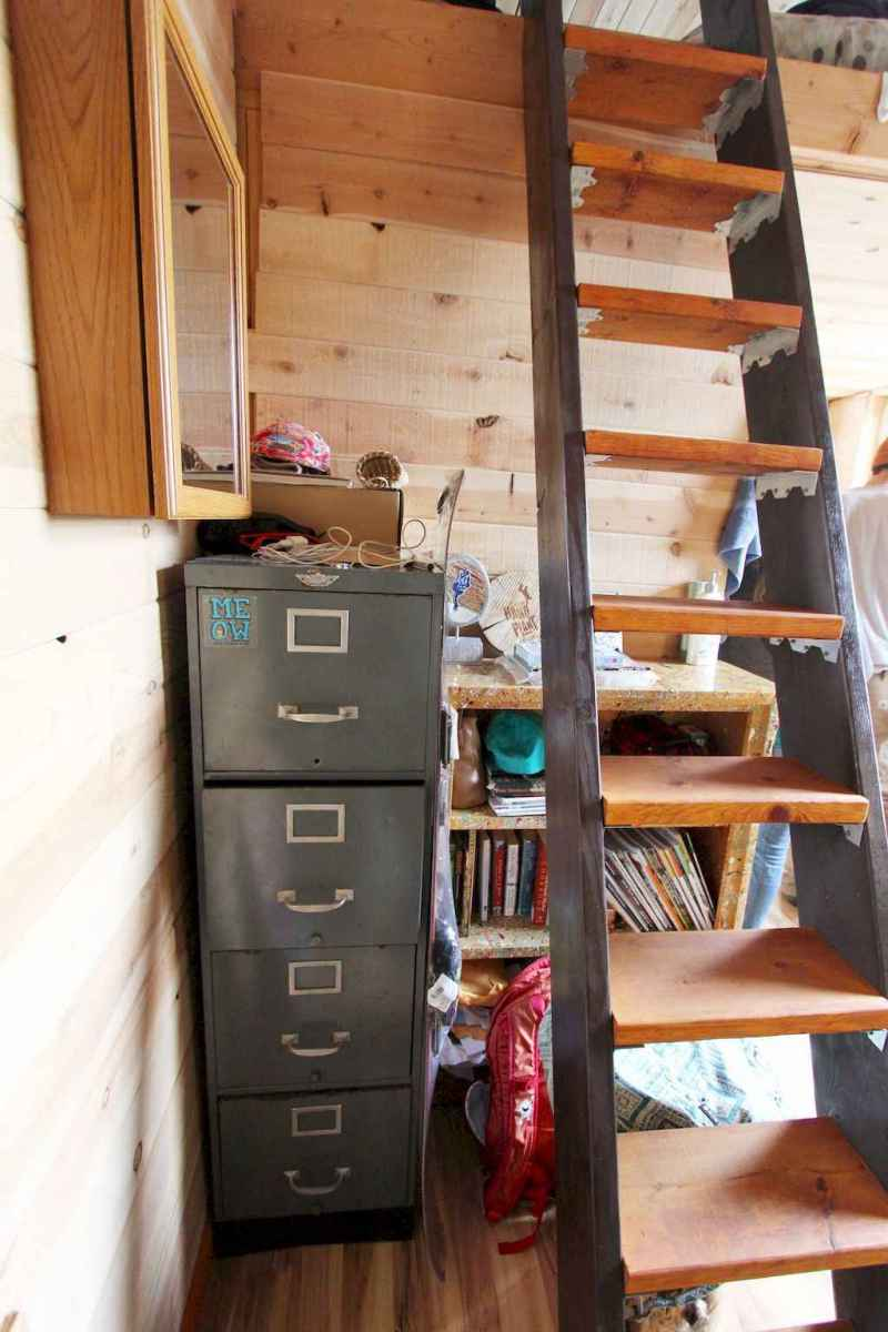 04 Clever Loft Stair Design for Tiny House Ideas