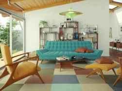 08 Gorgeous Mid Century Modern Living Room Design Ideas