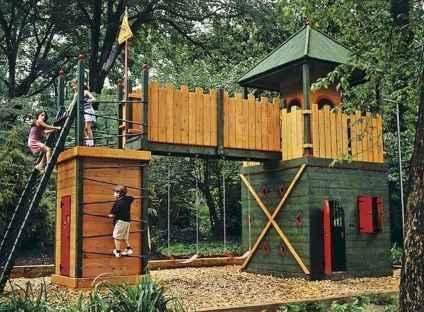 15 Exciting Small Backyard Playground Kids Design Ideas