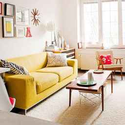 24 Beautiful Yellow Sofa for Living Room Decor Ideas