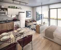 35 Clever Studio Apartment Decorating ideas