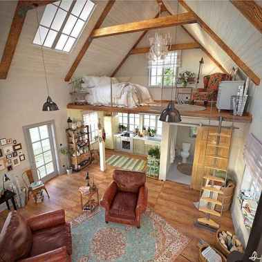 37 Clever Loft Stair Design for Tiny House Ideas