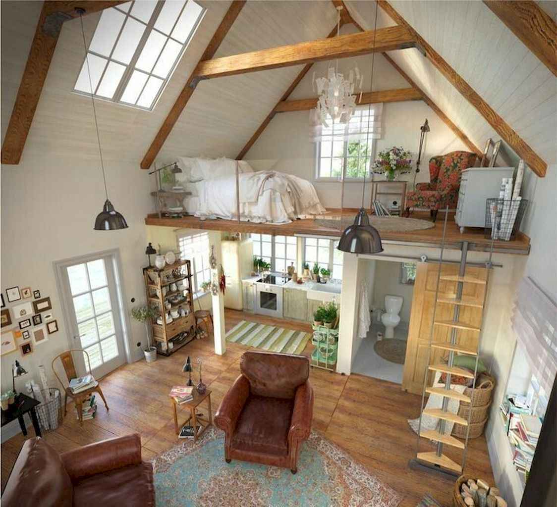 40 Cool Tiny House Interior Design Ideas