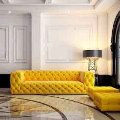 46 Beautiful Yellow Sofa for Living Room Decor Ideas