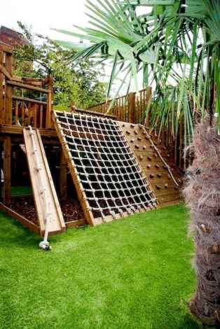 46 Exciting Small Backyard Playground Kids Design Ideas