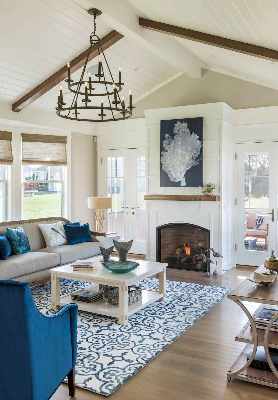62 Beautiful Coastal Living Room Decor Ideas