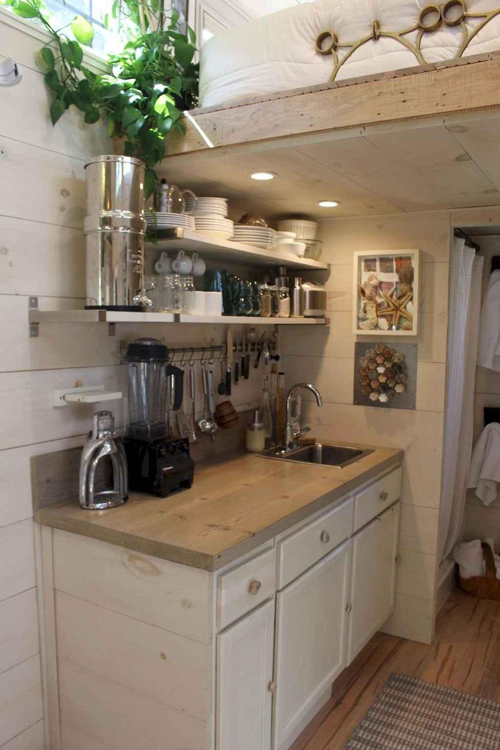 63 Tiny House Kitchen Storage Organization and Tips Ideas