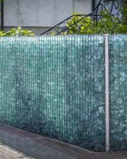 01 Fabulous Gabion Fence Design for Garden Landscaping Ideas