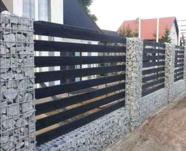 02 Fabulous Gabion Fence Design for Garden Landscaping Ideas