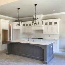 02 Incredible Farmhouse Gray Kitchen Cabinet Design Ideas