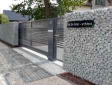 04 Fabulous Gabion Fence Design for Garden Landscaping Ideas