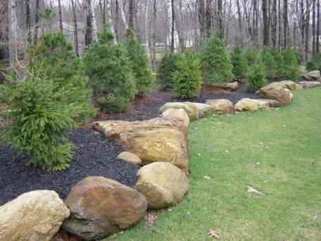 06 Awesome Front Yard Rock Garden Landscaping Ideas