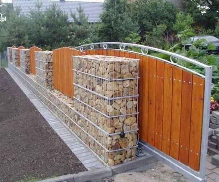 07 Fabulous Gabion Fence Design for Garden Landscaping Ideas