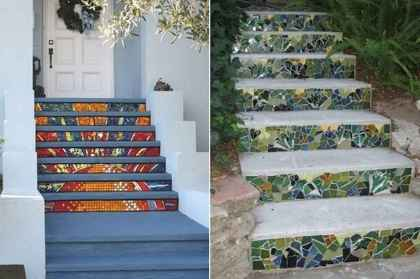 08 Excellent DIY Mosaic Garden Decoration Ideas for Front and Backyard Landscaping