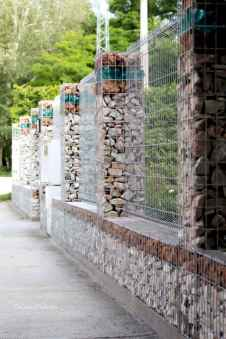 08 Fabulous Gabion Fence Design for Garden Landscaping Ideas