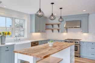 08 Incredible Farmhouse Gray Kitchen Cabinet Design Ideas