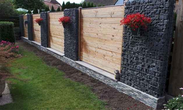 16 Fabulous Gabion Fence Design for Garden Landscaping Ideas