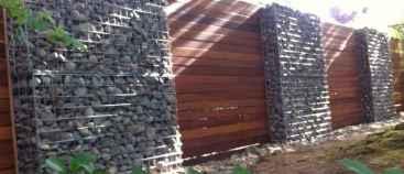 17 Fabulous Gabion Fence Design for Garden Landscaping Ideas