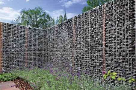 25 Fabulous Gabion Fence Design for Garden Landscaping Ideas
