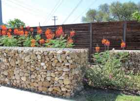 27 Fabulous Gabion Fence Design for Garden Landscaping Ideas