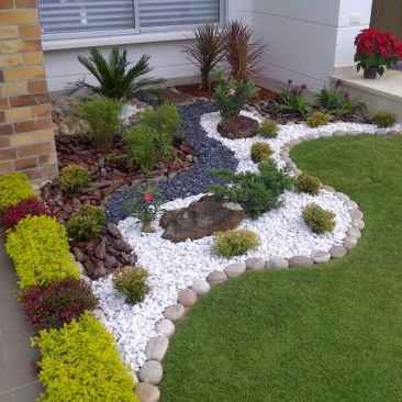 28 Awesome Front Yard Rock Garden Landscaping Ideas