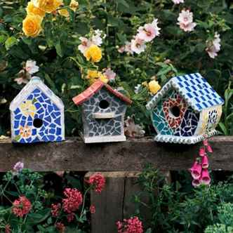 29 Excellent DIY Mosaic Garden Decoration Ideas for Front and Backyard Landscaping