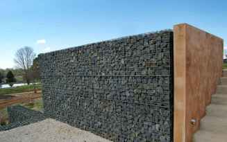31 Fabulous Gabion Fence Design for Garden Landscaping Ideas