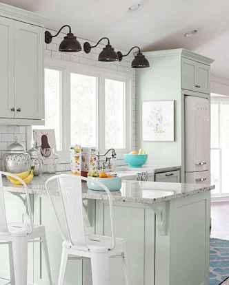 34 Incredible Farmhouse Gray Kitchen Cabinet Design Ideas