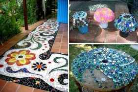 38 Beautiful DIY Mosaic Garden Path Decorations For Your Landscape Inspiration