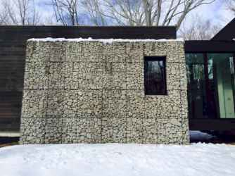 38 Fabulous Gabion Fence Design for Garden Landscaping Ideas