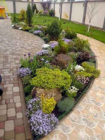 42 Awesome Front Yard Rock Garden Landscaping Ideas