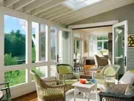 43 Cozy Farmhouse Sunroom Decor Ideas