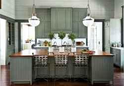 43 Incredible Farmhouse Gray Kitchen Cabinet Design Ideas