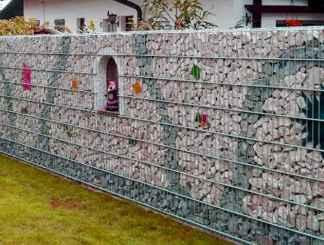45 Fabulous Gabion Fence Design for Garden Landscaping Ideas