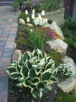 46 Awesome Front Yard Rock Garden Landscaping Ideas