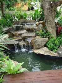 46 Unique Backyard Garden Water Feature Landscaping Ideas