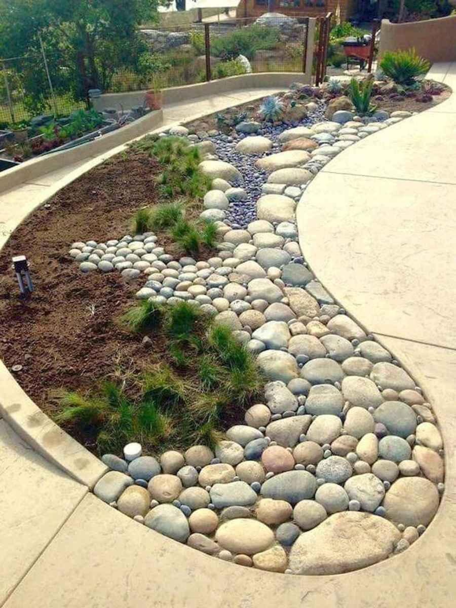 48 Awesome Front Yard Rock Garden Landscaping Ideas Insidexterior